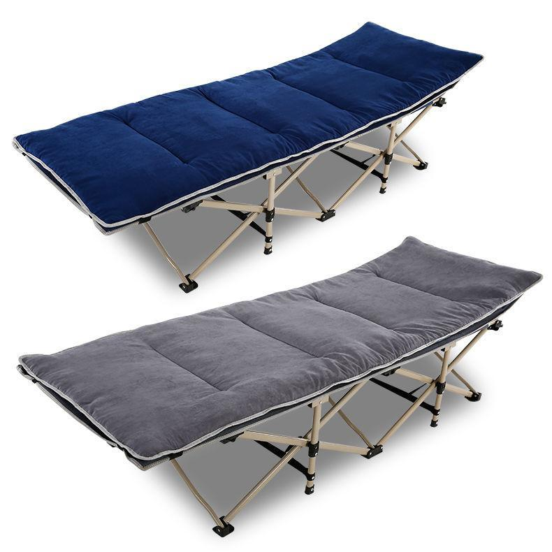 Folding Bed Siesta Bed Single Bed Chair Camp Bed Accompanying Bed Lunch Break Office Simple Rest Bed Home