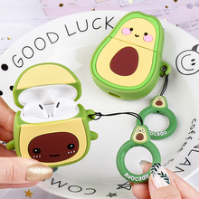 3D Cartoon Avocado Case For AirPods 2 1 Cute Earphone Capa For Airpods 2 Silicone Headphone Cover Fo