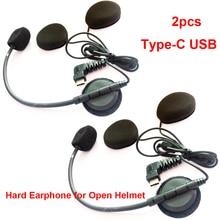 نوع C USB ميكروفون رئيس ل BT S2/S3 دراجة نارية بلوتوث إنترفون البيني ل فتح خوذة كامل الوجه خوذة