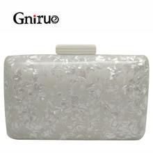 Clutch Wedding-Handbag Marble Wallet Brand Small White Eveningbag Casual Fashion Woman