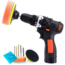 12V Lithium Battery Chargable Polish Machine Car Polisher Cleaner Wireless Portable Adjustable Speed Waxing Machine