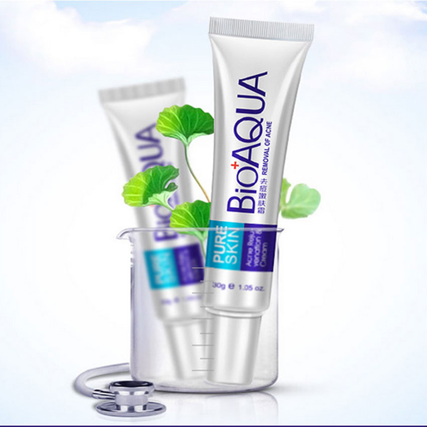 Skin Care Brand BIOAQUA Acne Scars Cream Acne Treatment Face Care Anti Acne Removal Gel Whitening Moisturizing Cream 30g Makeup