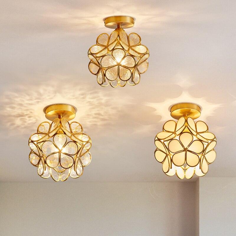 petala luzes de teto nordic cobre lampadas varanda quarto luzes do corredor meninas criancas quarto criativo