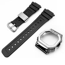 Ремешок для наручных часов чехол кольца для объектива с оптическими зумом Casio G-SHOCK часы DW5600 GW-5700 DWX-5600 GW-M5610 DW-D5600 смолы ремешок чехол Бесплатны...