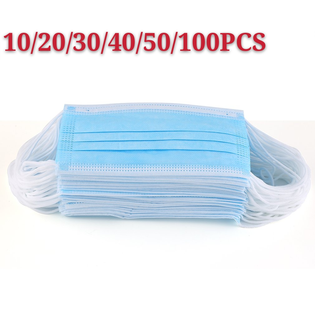 In Stock Disposable Masks 10/50pcs Mouth Mask 3-Ply Anti-Dust FFP3 FFP2 KN95 N95 Nonwoven Elastic Earloop Salon Mouth Face Masks