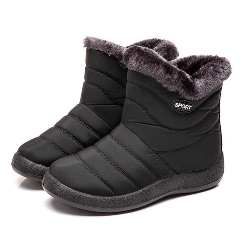 Stivali da neve Peluche Caldo Caviglia Stivali Per Le Donne Stivali Invernali Impermeabili Stivali Donna Stivali Scarpe Donna Inverno Stivaletti Zip Trasporto Libero