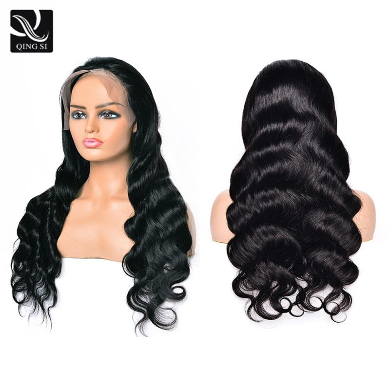Body Wave Wigs Lace Front Wig For Women 13x4 Brazilian Human Hair Wig 150% Density QING SI Remy Natural Hairline Baby Hair Wigs