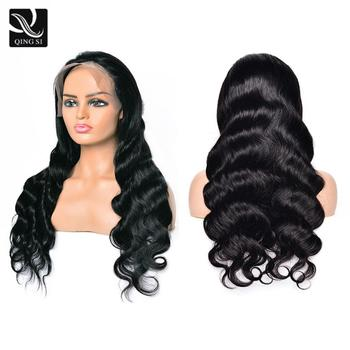 Body Wave Wigs Lace Front Wig For Women 13x4 Brazilian Human Hair Wig 150% Density QING SI Remy Natural Hairline Baby Hair Wigs body wave wigs lace front wig for women 13x4 brazilian human hair wig 150% density qing si remy natural hairline baby hair wigs