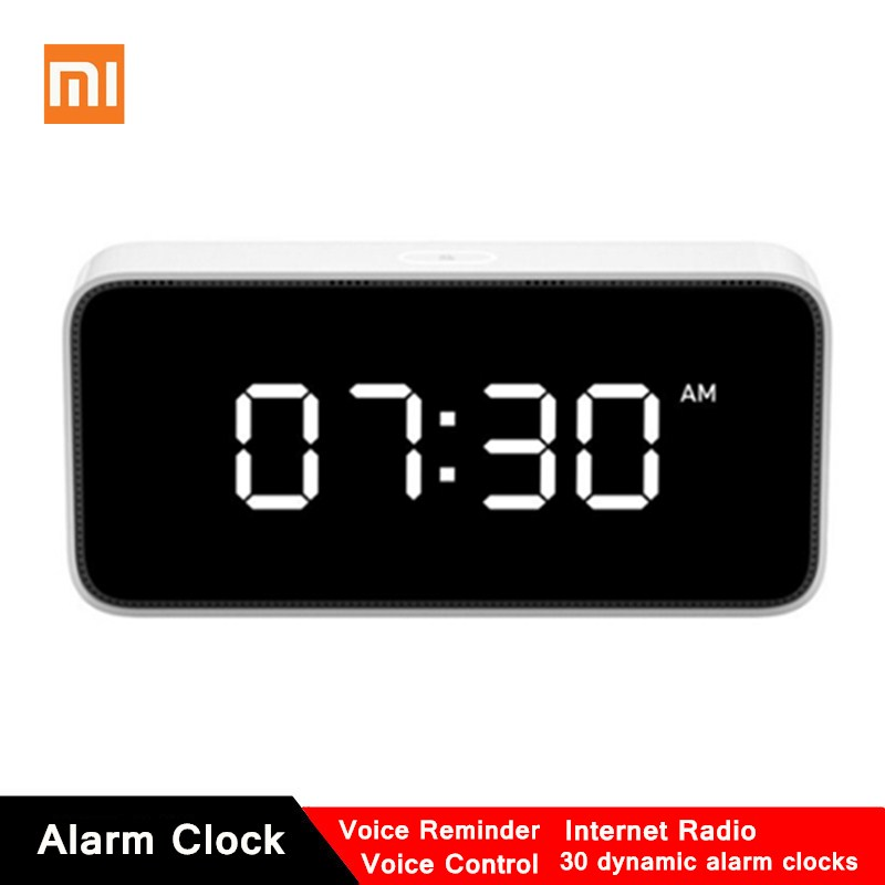 Original Xiaomi Xiaoai Smart Voice Broadcast Alarm Clock Household Creative Smart Alarm Clock Work With Mi Home APP image