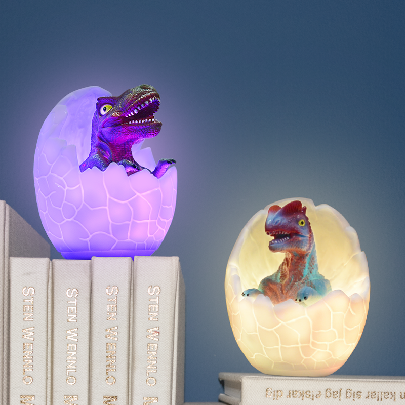 New Dinosaur Egg 3D Night Light Rechargeable Control Lamp 16 Colors Change Remote LED Light Gift Creative Smart Home Desk Lamp