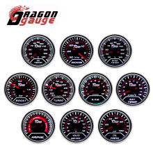 DRAGON GAUGE 52MM Water Temp Oil Temp Oil Press Voltmeter Vacuum Tachometer RPM Boost Gauge Air Fuel Ratio EGT Gauge for 12V Car