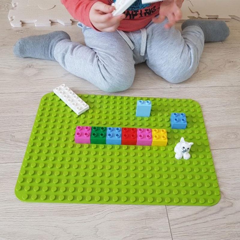 Duploe Big Blocks Base Plate 404 Dots DIY Large Baseplate Building Blocks Toys For Children Compatible LegoINGlys Duploed Toys