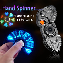 USB Charging Lighter Fingertip Gyro Glow In Dark Light Fidget Spinner Hand Top Spinners Stress Cigarette Accessorie Men Gift E usb double colon plate in 12 glow tube clock pluggable hand switch