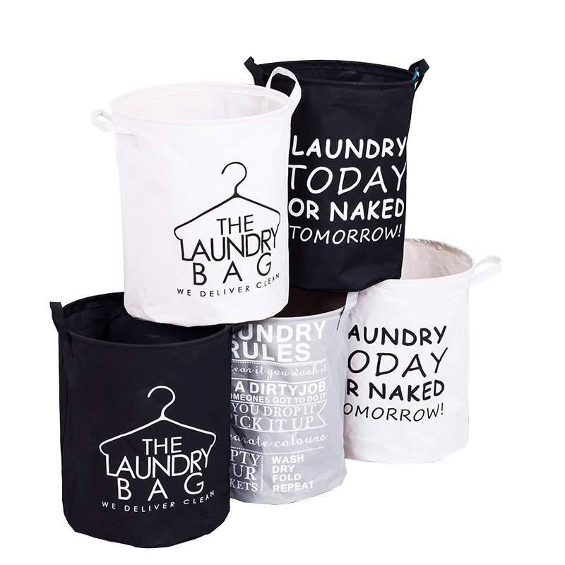 SDARISB Fashion Fabric Laundry Basket Bag Dirty Pouch Folding Laundry Storage Basket Bracelet Laundry Bag Bathroom Product