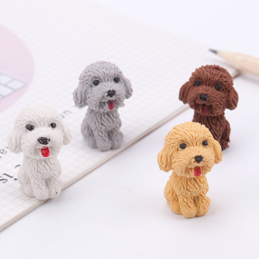 1PC Cute Dog Rubber Eraser School Office Stationery Supplies Pencil Correction Tools Drawing Accessories Student Kids Gifts