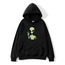 Funny Alien Graphics Print Funny Hoodies Pullover Women Warm Sweatshirt Cute Streetwear Kawaii Oversized Hoodie Sweatshirts худи print bar ом alien