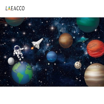 Laeacco Universe Photophone Space Planet Earth Astronaut Stars Photography Backgrounds Baby Birthday Photo Backdrops Photozone taylor butler christine space planet earth