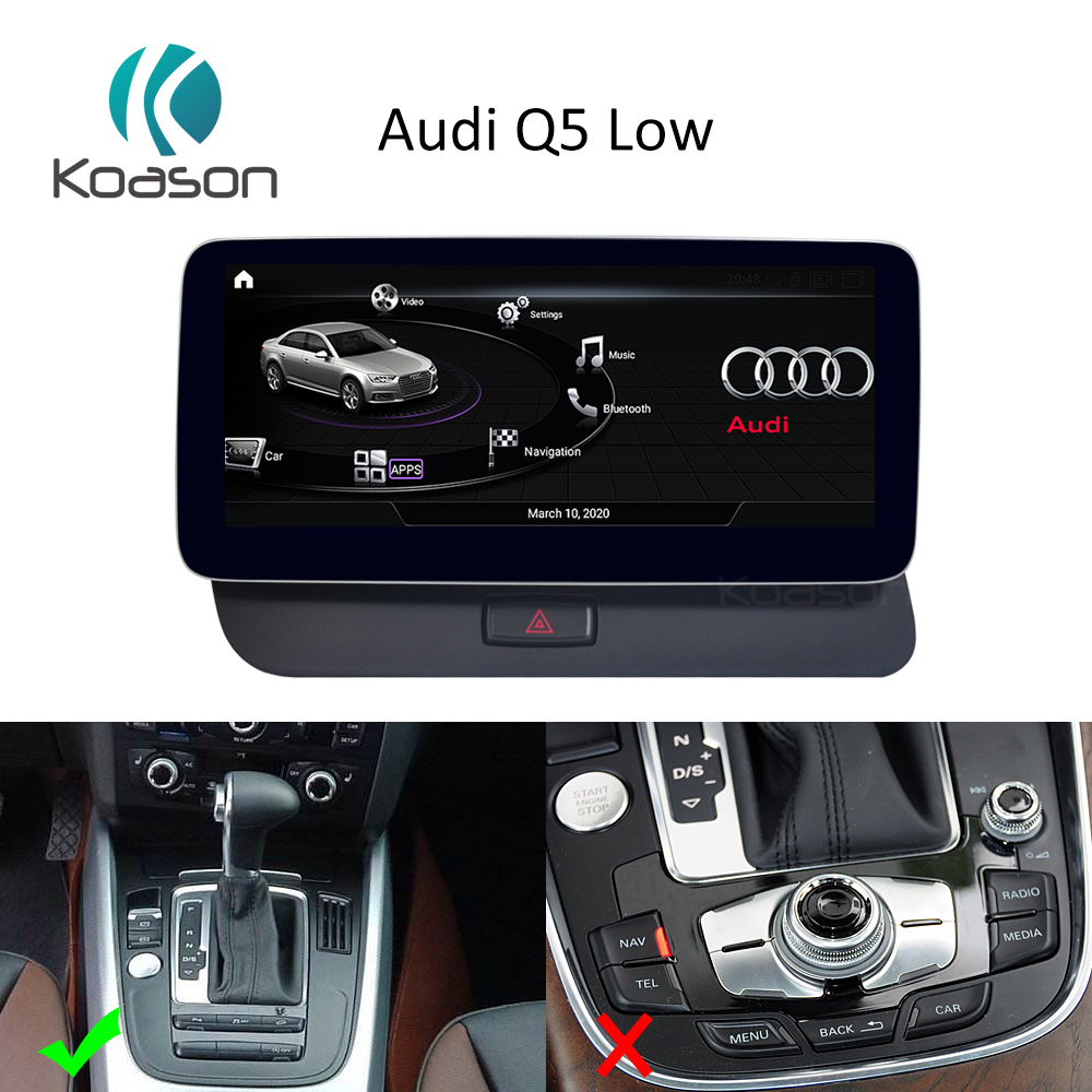 Android 10.0 Qualcomm <font><b>10.25</b></font> <font><b>inch</b></font> Screen Upgrade Car GPS Navigation for Q5 Low level Vehicle Multimedia Player carplay image