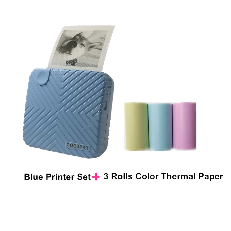 HOT New Arrival P6 mini thermal bluetooth photo printer for mobile blue printer and color paper