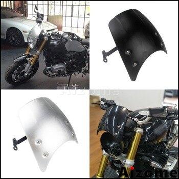 Motorcycle Aluminum Windshield Windscreen For BMW R nine T 2014-2019 R9T Flyscreen Air Deflector Headlight Fairing
