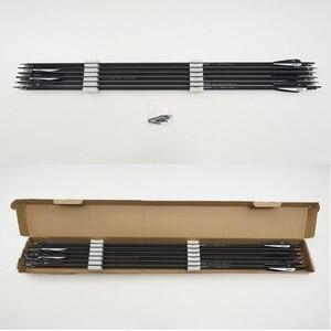 Image 5 - 26/28/30/32 인치 척추 Recurve/Compound Bows 양궁 사냥을위한 흑백 색상의 500 탄소/유리 섬유 화살표