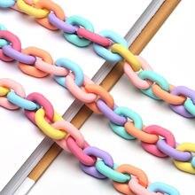 Цветной Акриловый резиновый ремешок для очков цепочка модный