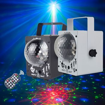 YSH Music Play Soundlights Disco Lamp RGB Bluetooth MP3 Led Disco Light Ball Party Light Rotating Stage Lamp DJ Projector Laser