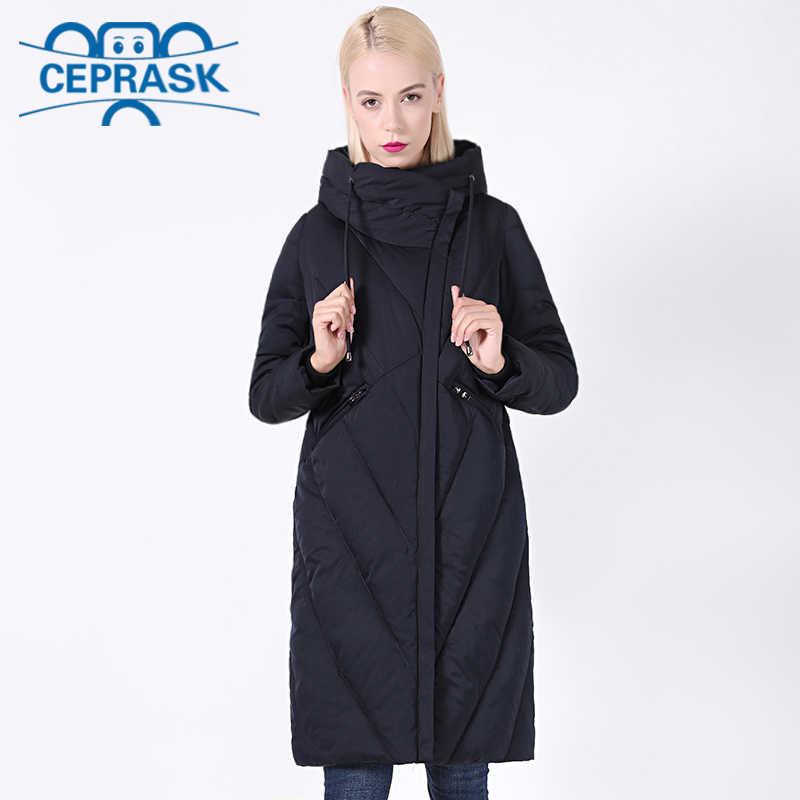 2020 새로운 겨울 코트 여성 플러스 사이즈 긴 방풍 칼라 여성 파카 세련된 후드 두꺼운 여성 자켓 CEPRASK