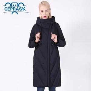 Image 1 - 2020 New Winter Coat Women Plus Size Long Windproof Collar Women Parka Stylish Hooded Thick Womens Jacket CEPRASK