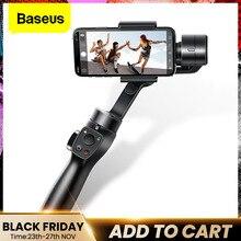 Baseus 3 eixos cardan handheld estabilizador smartphone selfie vara para iphone 11 pro max samsung xiaomi vlog cardan do telefone móvel