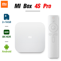 Globale version XIAOMI MI TV Box 4S Pro 1,9 GHz Amlogic Quad-core 5G WiFi bluetooth Android 8K HDR Smart-Streaming-Media-Player