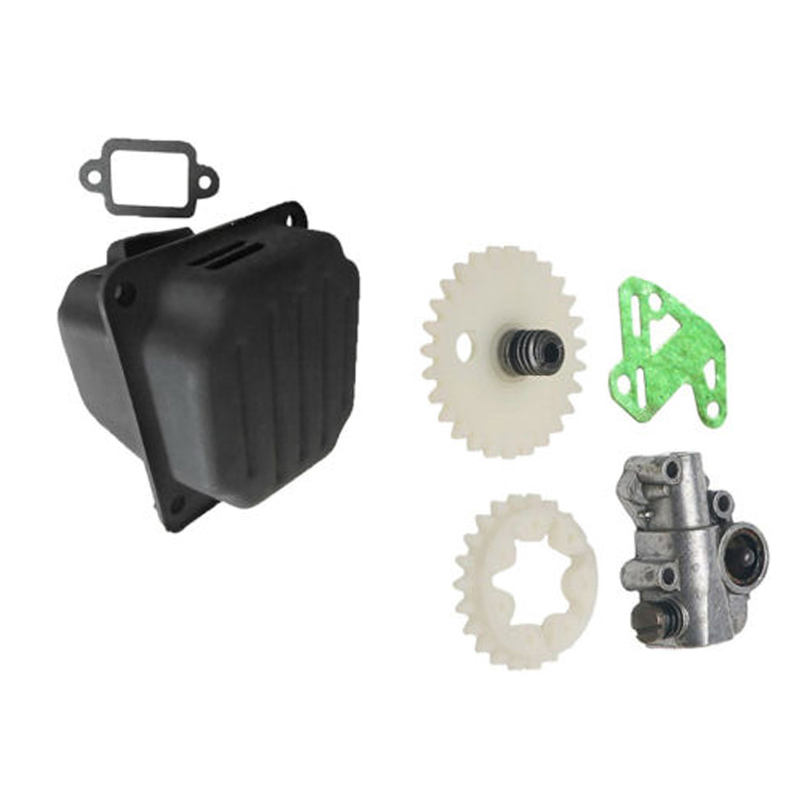 Worm Gear Oil Pump Gasket  With Muffler Kit For STIHL 038 380 MS380 MS381 038AV Chainsaw Power Tools Replacement