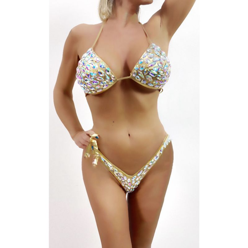 2020 Venus Vacation New Bandage Swimwear Sexy Women Bikini Set Diamond Rhinestone Bathing Suit Beachwear