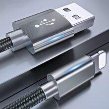 ROCK Metall USB Kabel für iPhone 8 7 6 6s X Legierung Nylon Geflecht Schnelle USB Ladekabel für iPhone X 10 SE 5 5s für iPhone ladegerät