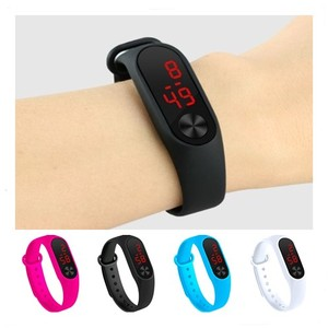 Four Colors Children's Digital Watch Led Sport Watch Casual Silicone For Kids Watches Wristwatch Bracelet(China)