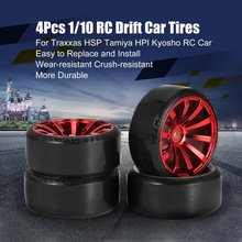 4Pcs 1/10 RC Drift Car Tire Wheel Rim Hard Wheel Tyre for Traxxas HSP Tamiya HPI Kyosho On-road Drifting Car RC Vehicle Hobby 4pcs set rc parts 12mm hex bead loc short course ruber tire rims for hpi hsp rc 1 10 traxxas slash