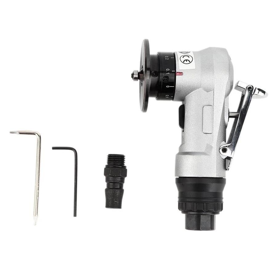 Linear Pneumatic Beveling Machine Tool No-Load Speed 30000 b.p.m Angled Design Mini Chamfering Machine Lightweight 45 /° Hand Elbow