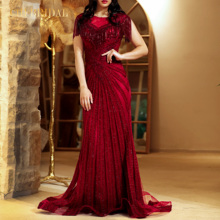 New Style Red Luxurious And Elegant Evening Dress Ladies Formal Banquet Wedding Dress Temperament Fashion Fishtail Skirt