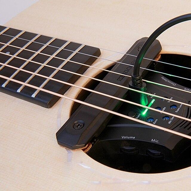 DOUBLE G0 guitare acoustique pick-up refrain retard réverbération effets micros nétiques trou de son piézo-électrique fréquence guitare accessoires