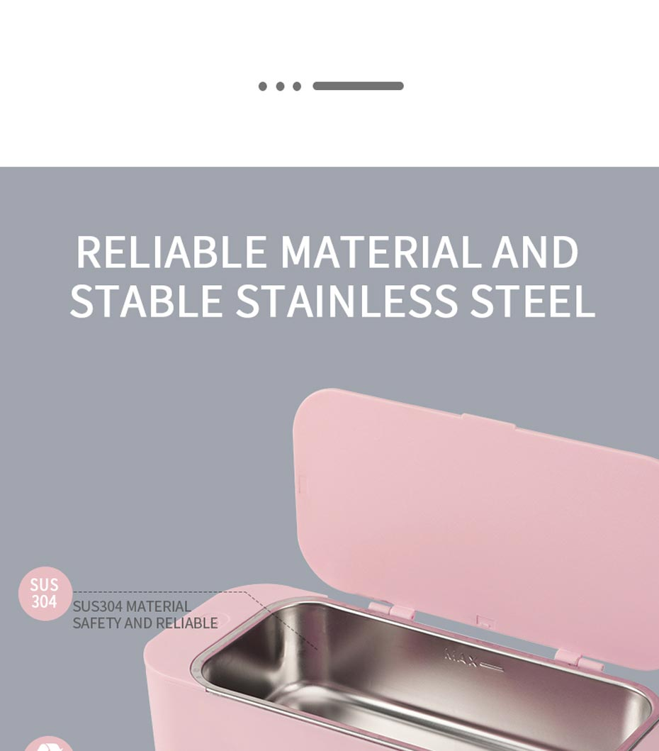 Cleaning Machine Ultrasonic Cleaner 450ml 42kHz Jewelry Glasses makeup brush cleaner