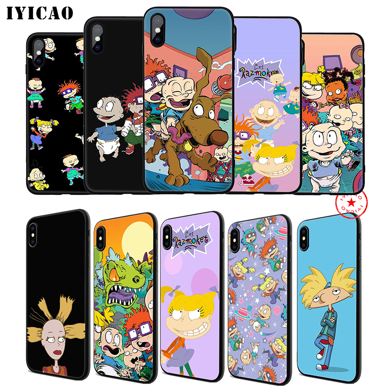 IYICAO Cartoon Rugrats Soft Phone Case for iPhone 11 Pro XR X XS Max 6 6S 7 8 Plus 5 5S SE Silicone TPU 7 Plus in Fitted Cases from Cellphones Telecommunications