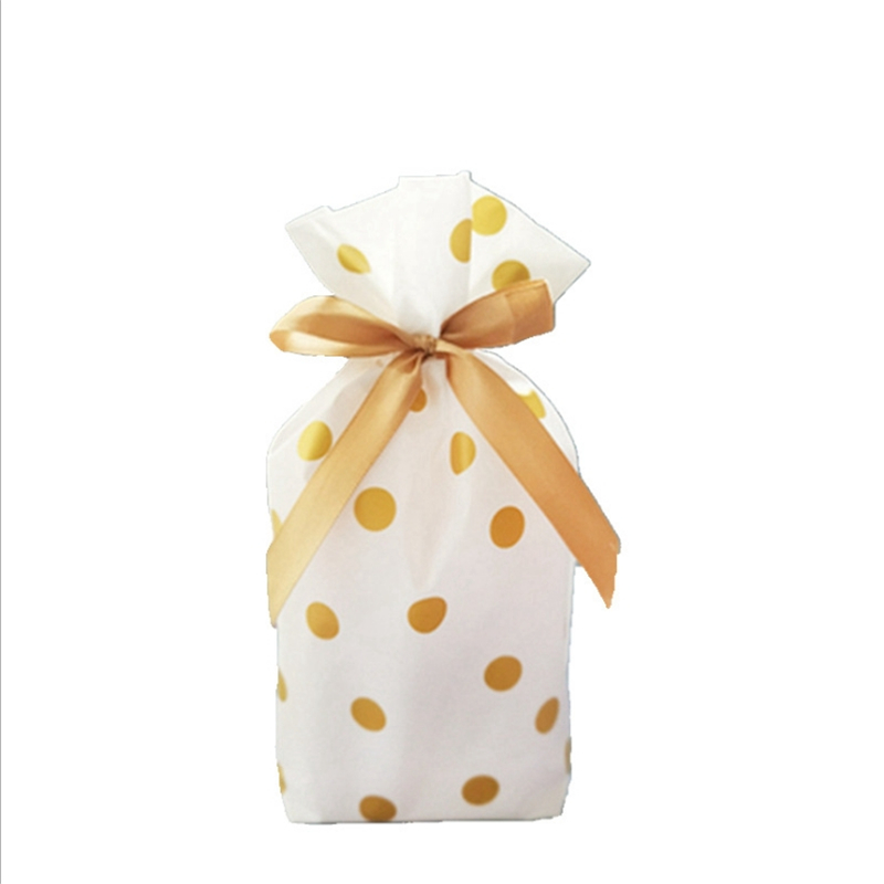 Ribbon Drawstring Bag Creative Cookie Candy Bags Plume Plastic Bag Wedding Birthday Favors Easter Party Snack Gift Bag Packaging