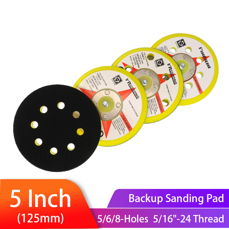 5 Inch 5/6/8 Holes Backup Sanding Pad125mm Sanding Disc Backing Pad 5/16