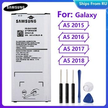 Original Battery EB-BA510ABE EB-BA510ABA for Samsung Galaxy A5 2015 A5 2016 EB-BA520ABE A5 2017 SM-A520F A5 2018 SM-A510F A5100 защитная плёнка для samsung galaxy a5 2016 sm a510f front