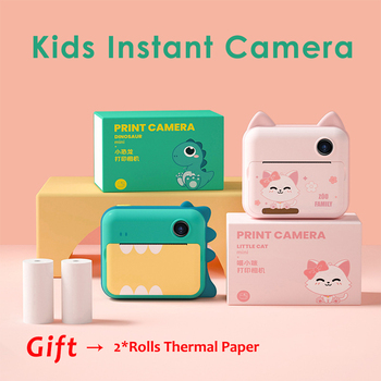 1080P HD Kids Instant Print Camera for Children Digital Front & Rear Camera Kid Toys with Thermal Photo Paper Gift for Girl Boy 1