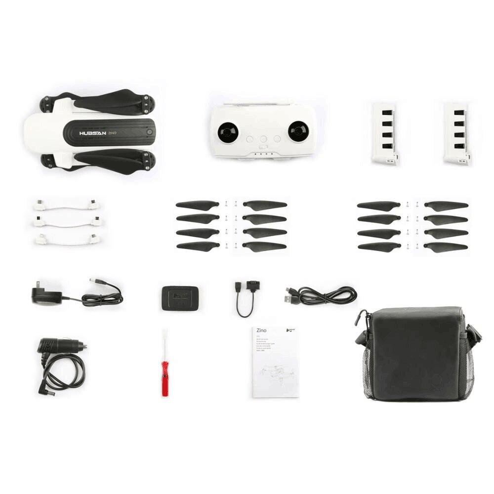 (Mit zwei batterien) original Hubsan H117s Zino 4k Bürstenlosen Gps 5,8g Wifi Fpv 3-achsen Gimbal Faltbare Rc Quadcopter Drone + tasche