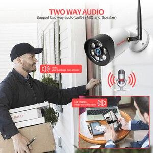 Image 3 - HD 1080P 5 Мп Wifi IP камера наружная беспроводная Onvif полноцветная камера видеонаблюдения с ночным видением цилиндрическая камера безопасности со слотом для TF карты APP CamHi