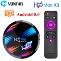 4 ГБ 128 ГБ H96 MAX X3 Smart Android TV Box 9,0 64 ГБ 32 ГБ Amlogic S905X3 четырехъядерный Wifi 8K H96MAX X3 TV BOX Android Set top box
