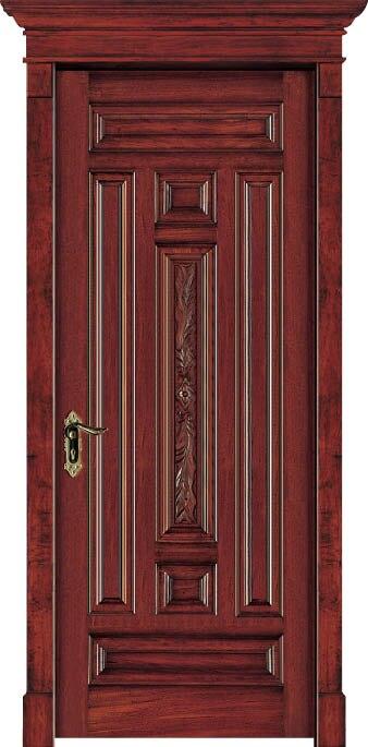 Luxury Carving Designs Thailand Oak Solid Wood Door Exterior Door Interior Wooden Doors C013