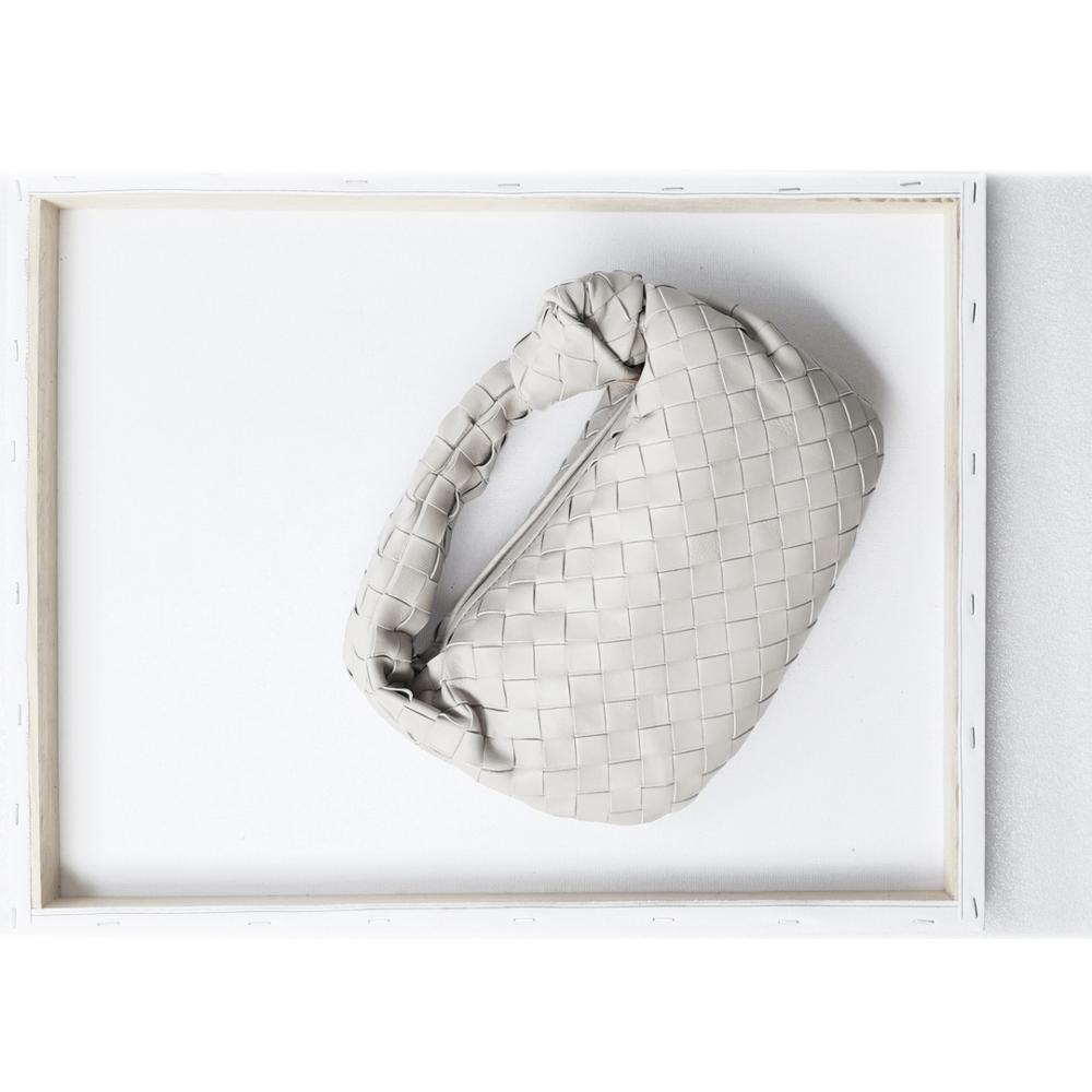 Тканая сумка тоут из коровьей кожи полукруглая кожаная Круассан